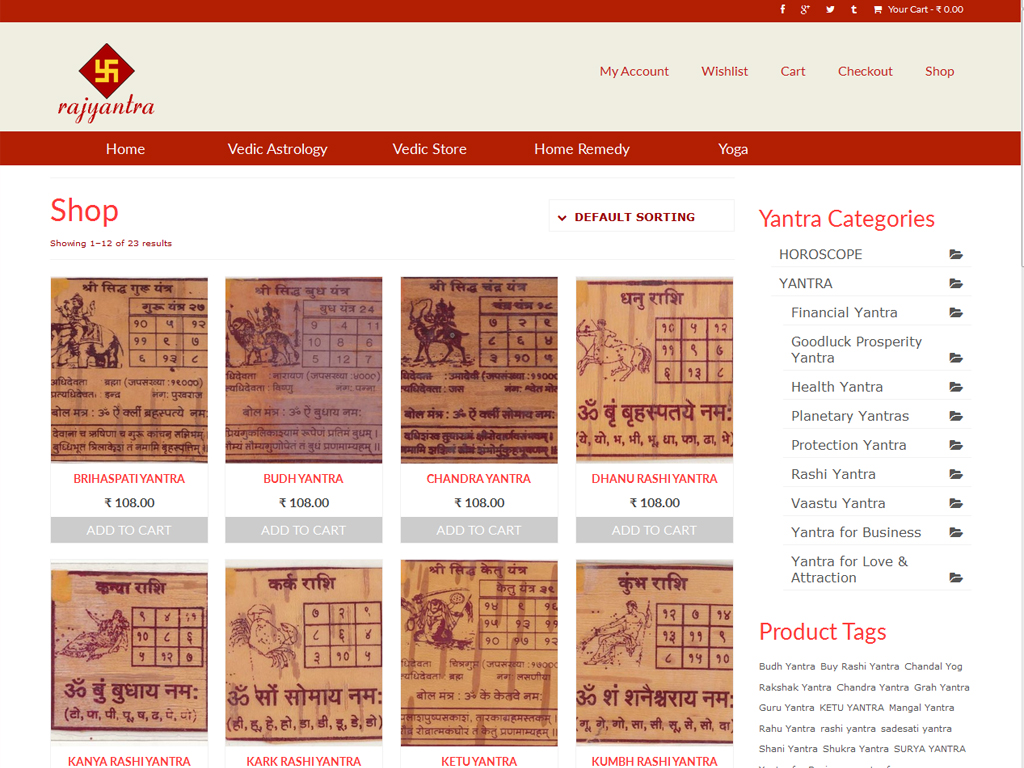 website-designing-for-panditji,-jyotish,-kalsarp-dosh-and-mangal-bhat-puja