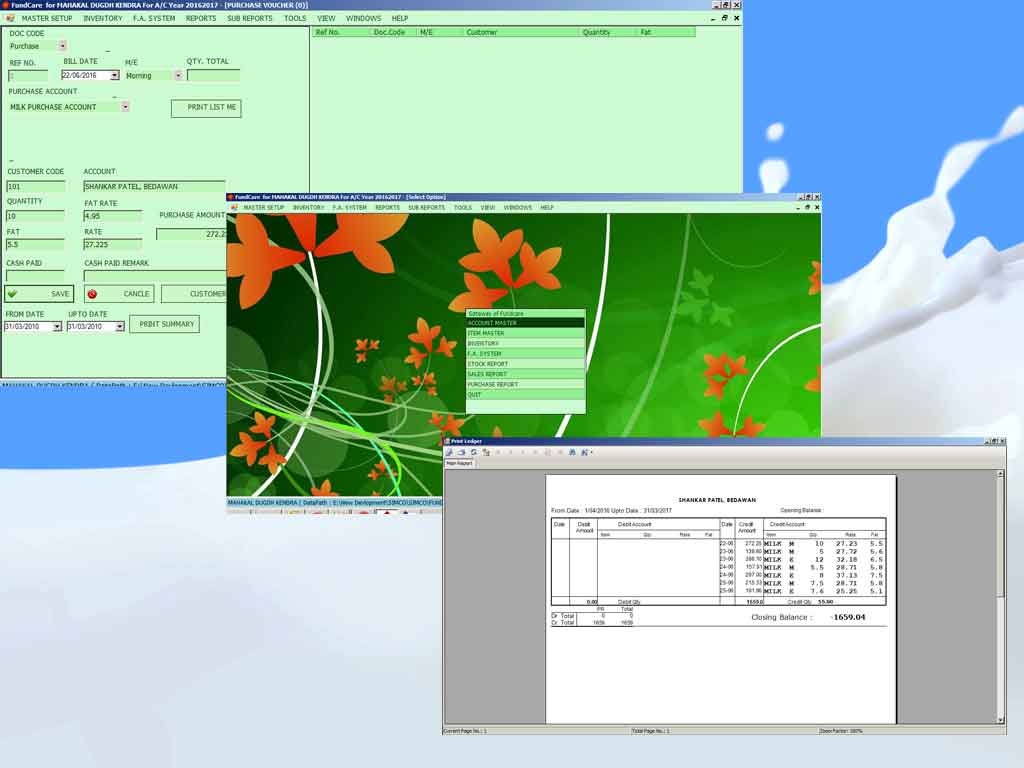 Software for Milk Dairy Management