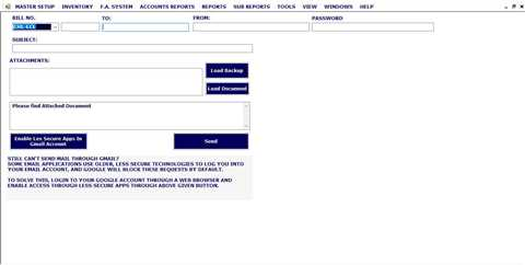 Email Document Like Sales Bill, Quotation, Order, Expiry Note in Fundcare Software